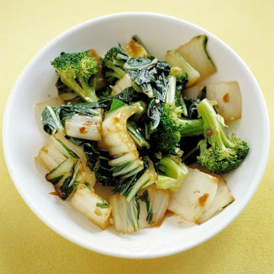 Sauteed Bok Choy and Broccoli