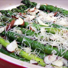 Roasted Asparagus With Almonds and Asiago