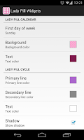 Screenshot of Lady Pill Widgets