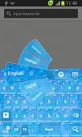 Screenshot of GO Keyboard Winter Themes