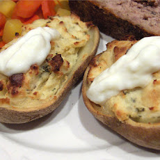 Garlic and Herb Stuffed Baked Potatoes