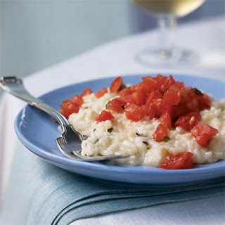Lemon-Basil Risotto with Tomato Topping