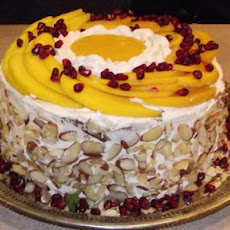 Mango-Orange Mousse Cake