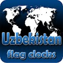 Uzbekistan flag clocks icon