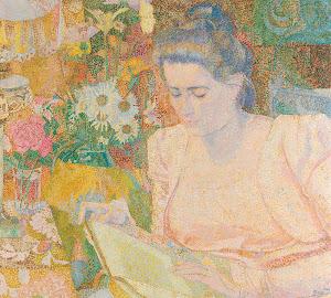 RIJKS: Jan Toorop: Portrait of Marie Jeanette de Lange 1900