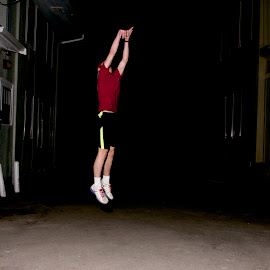 Practice by Jason Gajan - Sports & Fitness Basketball ( jump shot, practice, focus, night )