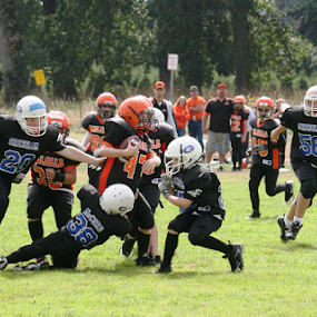 Youth Football by Bill Waterman - Sports & Fitness American and Canadian football ( parents, football, coach, kids, landscape,  )