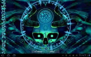 Screenshot of Mystical Skull Live Wallpaper