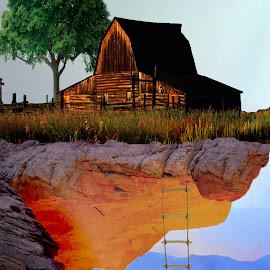 Hang by Andrei-Daniel Botezatu - Digital Art Places ( mountain, sea, canyon, rock, seaside, landscape, hang )