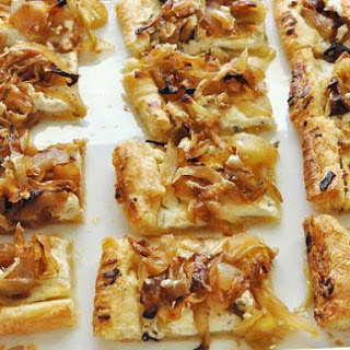 Onion Tart Puff Pastry Goat Cheese Recipes