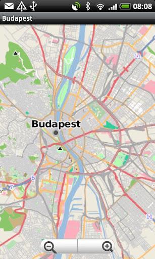Budapest Street Map