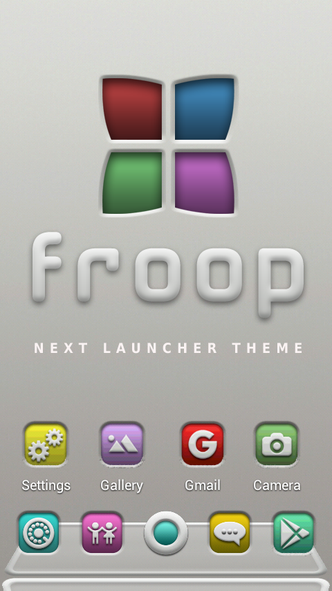 FROOP Next Launcher 3D Theme Screenshot
