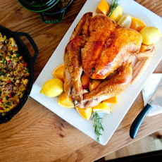 Pomegranate-Brined Roast Turkey Recipe