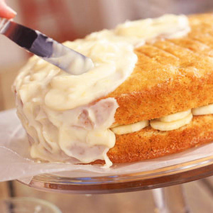 Banana Layer Cake with Lemon-Cream Cheese Frosting Recipe | Yummly