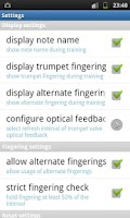 Screenshot of Trumpet Fingering Trainer Demo