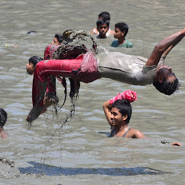 FUN by Chanchal Mandal - Sports & Fitness Other Sports ( water, red, mud, fun, day, pond )