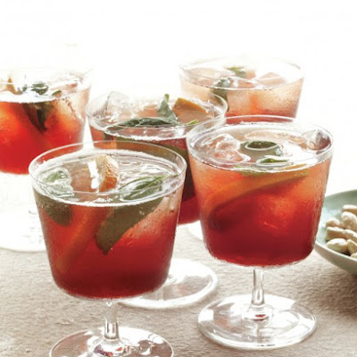 Orange-and-Basil Aperitif