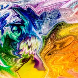 explosion by Dirk Rosin - Digital Art Abstract
