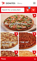 Screenshot of Donatos Pizza
