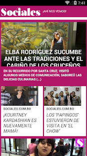Sociales.com.bo - screenshot