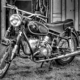 Vintage BMW by Annette Nordlinder - Transportation Motorcycles
