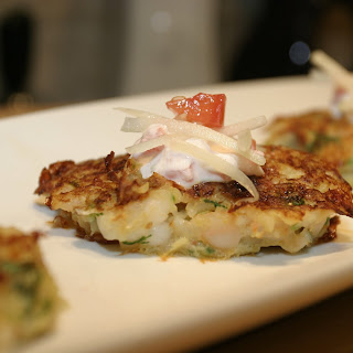 Shrimp Cakes with Raita