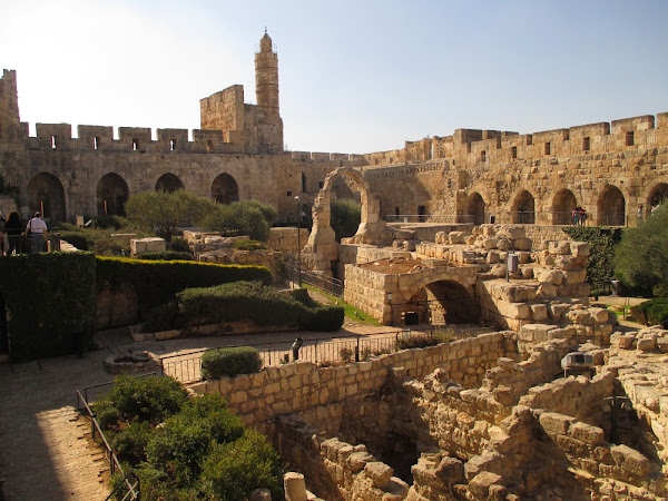 The courtyard of the Tower of David