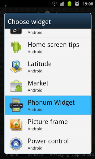 Phonum Widget