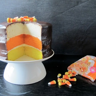 Chocolate Covered Candy Corn Layer Cake