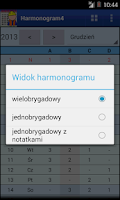 Screenshot of Harmonogram pracy