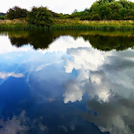 Reflections by Costa Philippou - Landscapes Cloud Formations ( clouds, reflection, sky, waterscape )