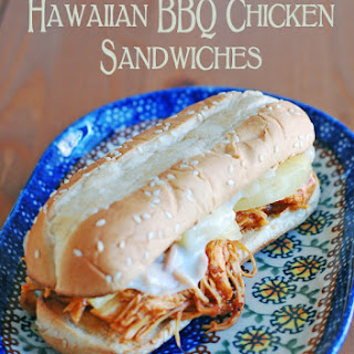 Slow Cooker Hawaiian BBQ Chicken Sandwiches – an easy twist on an old favorite!