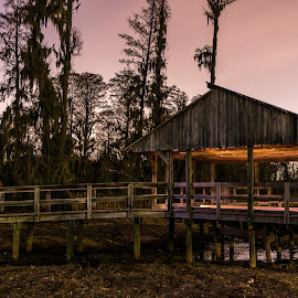 Swamp House by Phillip Gandy - City,  Street & Park  City Parks ( sony, light painting, nex6, augusta, swamp )