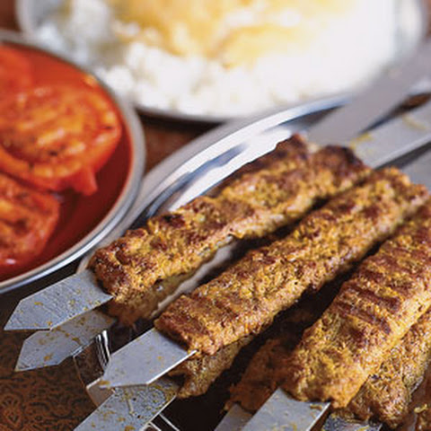 Spicy Harissa Yogurt Sauce And Grilled Flatbread (Minced Lamb Kebabs ...