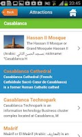 Screenshot of Casablanca Guide Hotel Weather