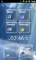 Screenshot of [MXHome] Glass theme Full ver.