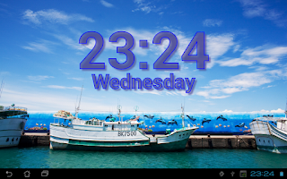 Screenshot of DIGI Clock Live Wallpaper