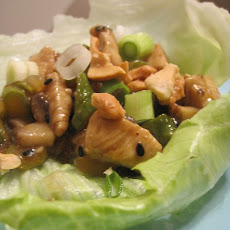 Asparagus and Chicken Lettuce Wraps