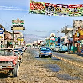 Ensenada by Lawrence Burry - City,  Street & Park  Street Scenes ( cantina, hussongs, baja california, ensenada, mexico, latin america, street scene )