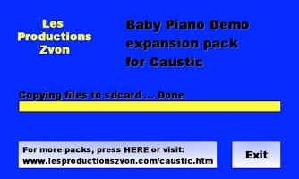 Screenshot of Baby Piano demo for Caustic