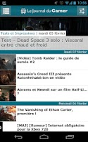 Screenshot of Journal du Gamer (Officiel)
