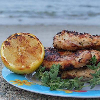 Grilled Chicken w/ Lemon & Oregano