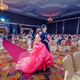 by Choong Kooi Chin - Wedding Ceremony ( dinner, wedding day, celebration, bride and groom, ceremony )