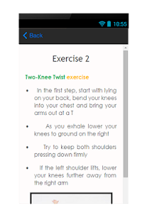 Exercise For Back Pain - screenshot
