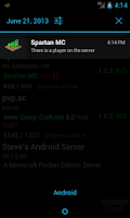 Screenshot of Server Status (for Minecraft)
