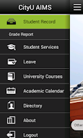 Screenshot of CityU Mobile AIMS
