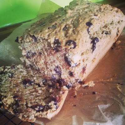 Choc-Chip & Cherry-Almond Quinoa Loaf Cake