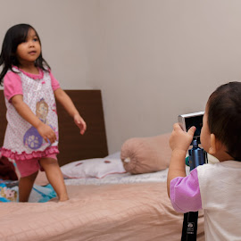 photographer by Kimpul Kimpul - Babies & Children Toddlers ( happy, photographer, kids, baby, jump,  )