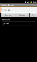Screenshot of Albanian German Dictionary