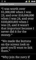 Screenshot of Steve Jobs Quotes